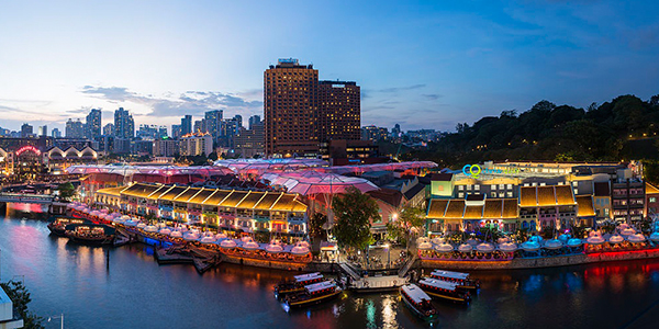 Party all night long at the beautiful riverside Clarke Quay