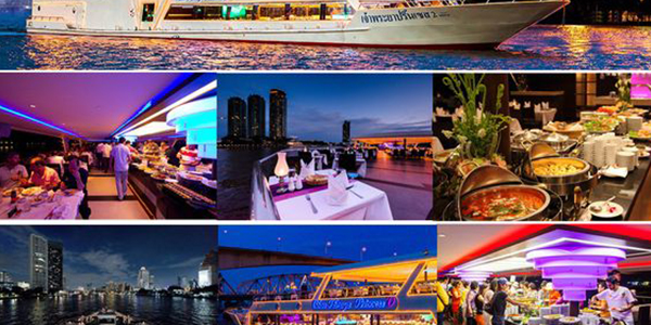 Enjoy delectable dinner on a cruise along the Chao Phraya River
