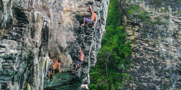 Head for a rock climbing session at Railay in Krabi