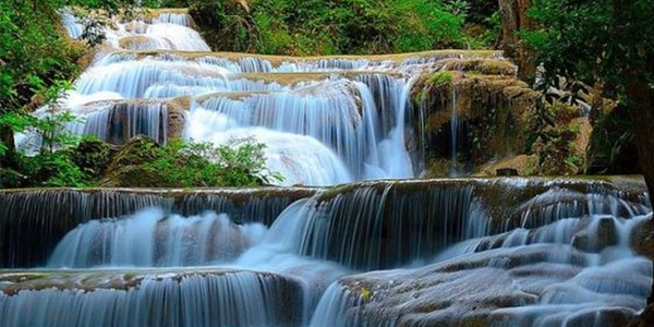 Soak under the magical waterfalls at Erawan National Park