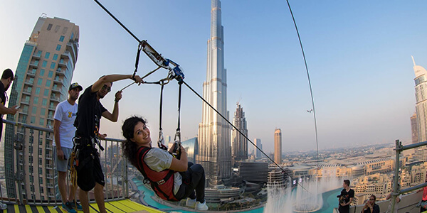 Zipline across the world's longest urban Zipline