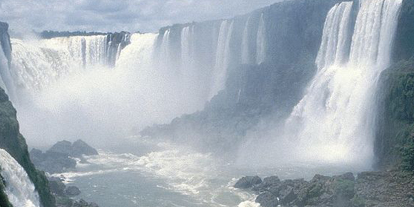 Ever wondered what is behind a waterfall? Iguazu Falls will let you find out